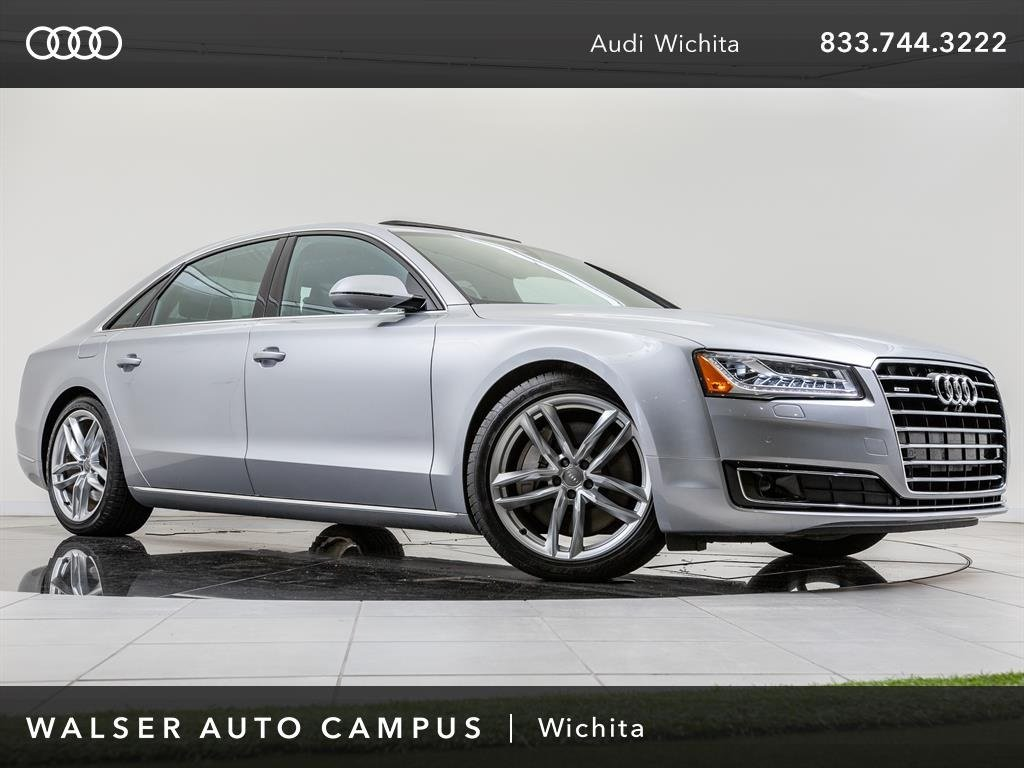 Pre-Owned 2015 Audi A8 L L 3.0T quattro Navigation, Moonroof, Top-View Cam