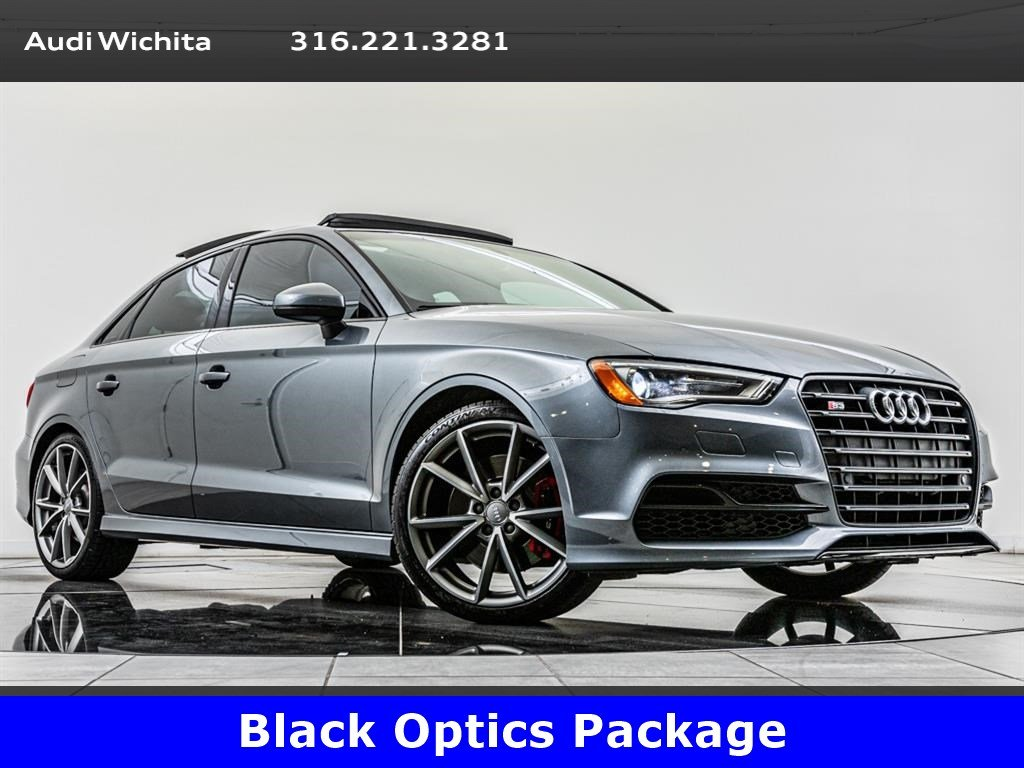 Pre-Owned 2016 Audi S3 2.0T Premium Plus quattro, Black Optics Pkg
